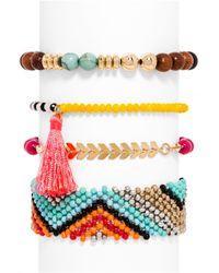 BaubleBar - Multicolor Wanderlust Bracelet Quad - Lyst