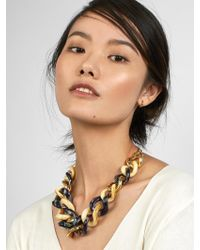 BaubleBar - Blue Fabia Linked Statement Resin Necklace - Lyst