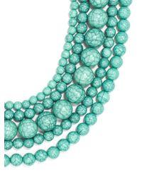 BaubleBar   Green Globe Layered Bib Necklace   Lyst