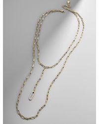 BaubleBar - Metallic Link Layered Necklace - Lyst