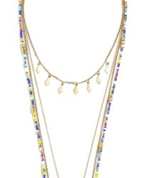 BaubleBar - Metallic Athens Tiered Necklace - Lyst