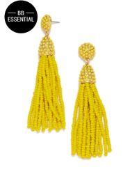 BaubleBar | Yellow Piñata Tassel Earrings | Lyst