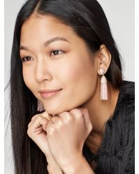 BaubleBar | Pink Mini Gem Piñata Tassel Earrings | Lyst