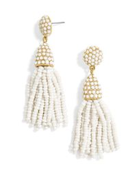 BaubleBar - White Mini Piñata Tassel Earrings - Lyst