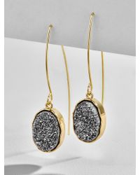 BaubleBar | Multicolor Nightfall Druzy Earrings-gray | Lyst