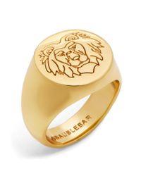 BaubleBar | Metallic Leo Lion Head Ring | Lyst