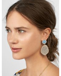 BaubleBar - Gray Vina Druzy Drop Earrings - Lyst