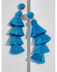 BaubleBar - Blue Gabriela Stud Tassel Earrings - Lyst
