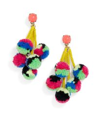 BaubleBar   Blue Caicos Pom Pom Earrings   Lyst