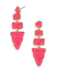 BaubleBar - Pink Oracle Druzy Drops - Lyst