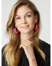 BaubleBar | Pink Havana Pom Pom Earrings | Lyst