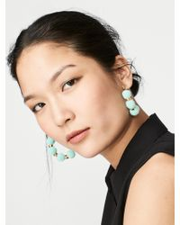 BaubleBar | Gray Havana Pom Pom Earrings | Lyst