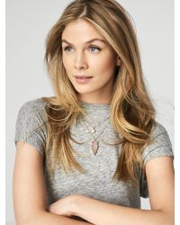 BaubleBar - Metallic Aztec Layered Necklace - Lyst