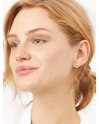 BaubleBar - Metallic Crystal Skull Stud Earrings - Lyst