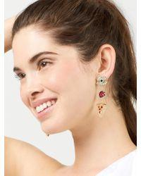 BaubleBar - Multicolor Eye Heart Pizza Drop Earrings - Lyst