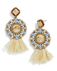 BaubleBar - Metallic Tahera Raffia Drop Earrings - Lyst