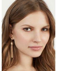 BaubleBar | Metallic Chain-link Tassel Drop Earrings | Lyst