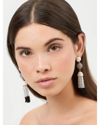 BaubleBar | Gray Catalina Tassel Earrings | Lyst