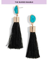 BaubleBar | Black Hebe Tassel Earrings | Lyst