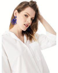 BaubleBar - Multicolor Clover Hoop Earrings - Lyst