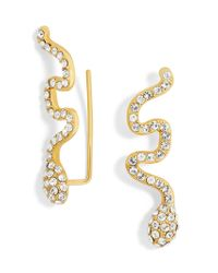 BaubleBar | Metallic Crystal Snake Ear Crawlers | Lyst