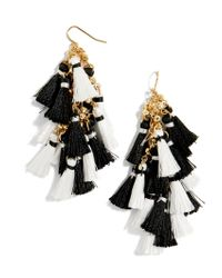 BaubleBar - Black Rosalita Tassel Earrings - Lyst