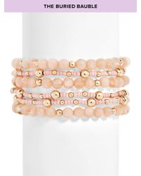 BaubleBar - Multicolor Bitty Beaded Bracelet - Lyst