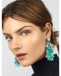 BaubleBar - Green Contessa Tassel Earrings - Lyst