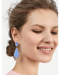 BaubleBar - Moonlight Druzy Drop Earrings-light Blue - Lyst