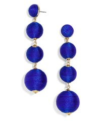 BaubleBar - Blue Criselda Ball Drop Earrings - Lyst