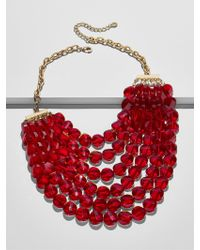 BaubleBar - Red Noel Statement Necklace - Lyst
