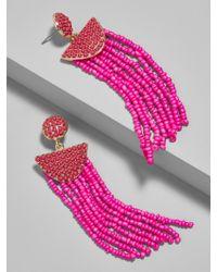 BaubleBar - Pink Tarot Tassel Earrings - Lyst