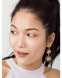BaubleBar - Metallic Morningstar Drop Earrings - Lyst