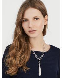 BaubleBar - Metallic Chain Link Tassel Necklace - Lyst