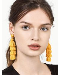 BaubleBar - Yellow Taylor Tassel Earrings - Lyst