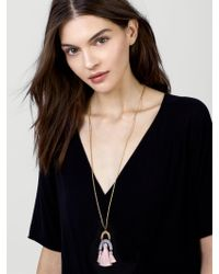 BaubleBar - Multicolor Shamia Pendant Necklace - Lyst