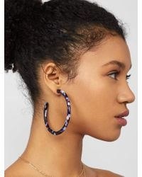 BaubleBar - Multicolor Samanda Resin Hoop Earrings - Lyst