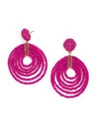 BaubleBar | Pink Clover Hoop Earrings | Lyst