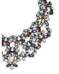BaubleBar - Majesty Crystal Bib-blue - Lyst