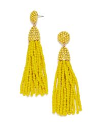 BaubleBar - Yellow Piñata Tassel Earrings - Lyst