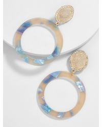 BaubleBar - Blue Devinne Resin Druzy Hoop Earrings - Lyst