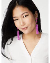 BaubleBar | Purple Artemis Tassel Earrings | Lyst