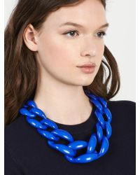 BaubleBar - Blue Linked Up Statement Necklace - Lyst