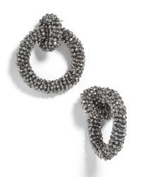 BaubleBar - Gray Emlyn Hoop Earrings - Lyst
