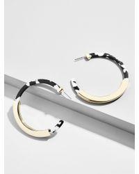 BaubleBar - Black Tassiana Resin Hoop Earrings - Lyst