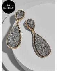 BaubleBar - Gray Moonlight Druzy Drop Earrings - Lyst
