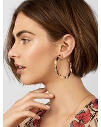 BaubleBar - Blue Devri Resin Hoop Earrings - Lyst