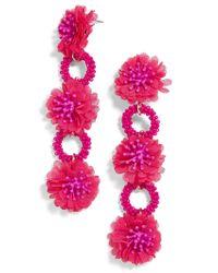 BaubleBar - Pink Vernita Flower Drop Earrings - Lyst