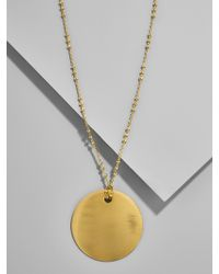 BaubleBar - Metallic Ada Pendant Necklace - Lyst
