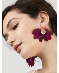 BaubleBar - Purple Monarch Feather Earrings - Lyst